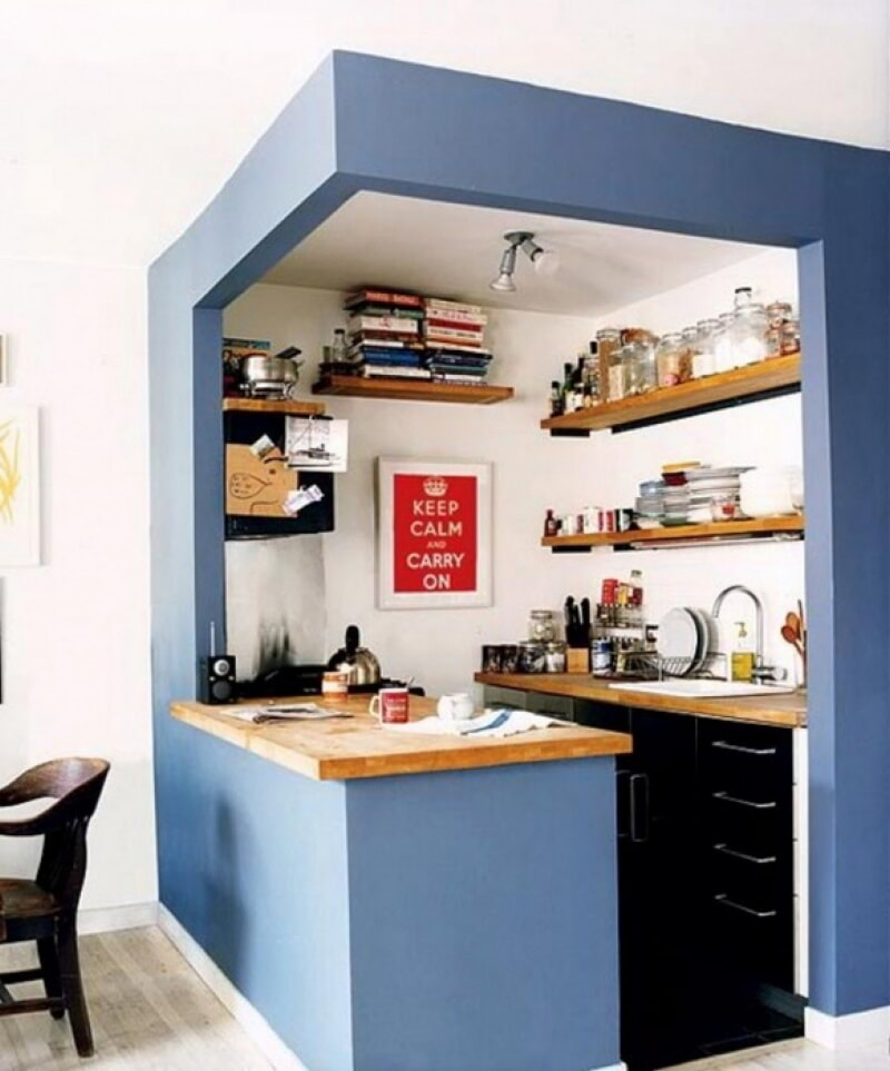 Как сделать маленькую кухню удобнее: 30 идей