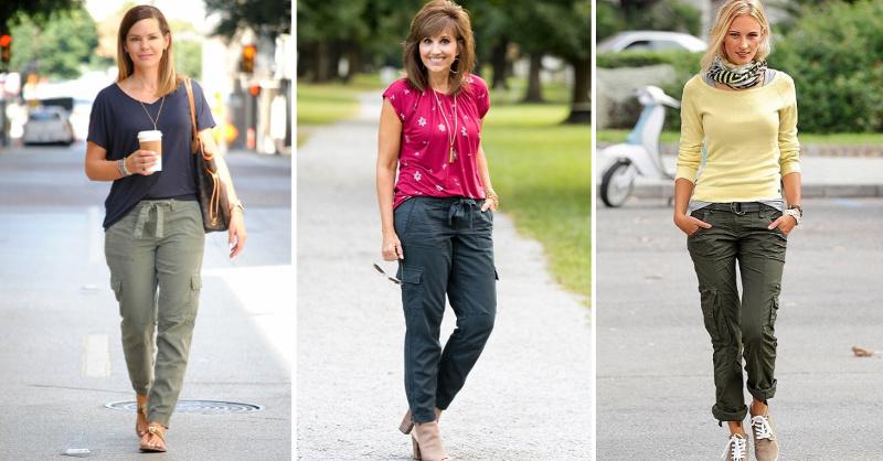 Как носят брюки карго модницы