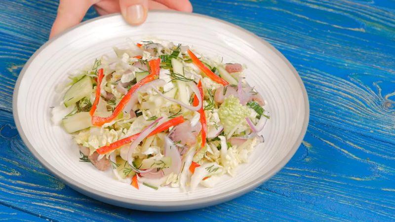Гениальные салаты из пекинской капусты — и вкусно, и очень красиво