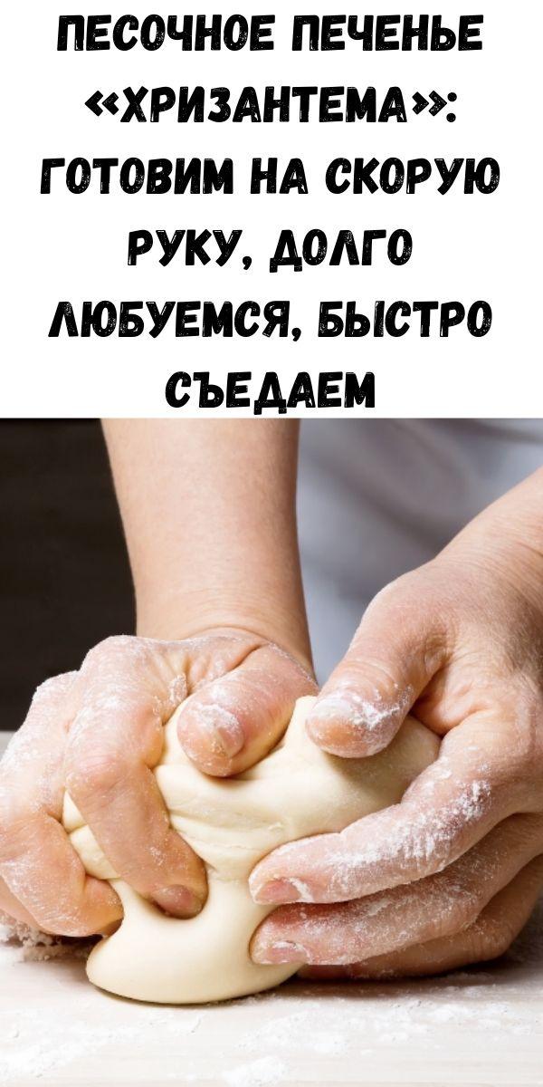 Песочное печенье «Хризантема»: готовим на скорую руку, долго любуемся, быстро съедаем
