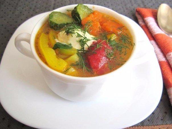 Овощной суп для диетического питания!