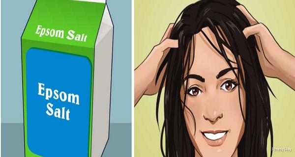Втирайте эпсомскую соль в волосы и неожиданный результат – вас удивит!